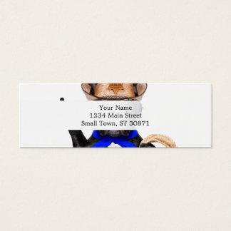 cowboy pug - dog cowboy mini business card