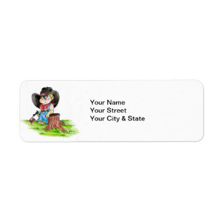 cowboy return address label