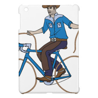 Cowboy Riding Bike With Lasso Wheels iPad Mini Cover