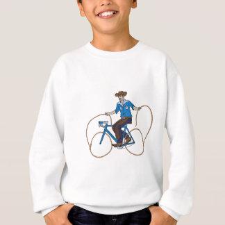Cowboy Riding Bike With Lasso Wheels Sweatshirt