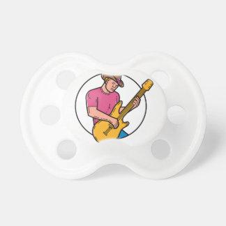 Cowboy Rocker Guitarist Mono Line Art Dummy