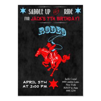 Cowboy Rodeo Birthday Party Invitations