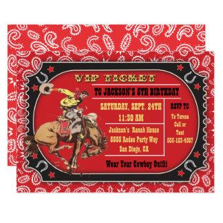 Cowboy Rodeo Western Birthday party Card
