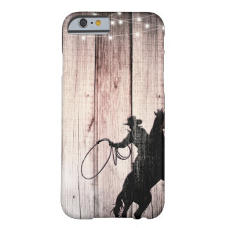 Cowboy Rustic Wood Barn Country Wild West Barely There iPhone 6 Case