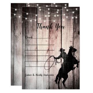 Cowboy Rustic Wood Barn Country Wild West Card