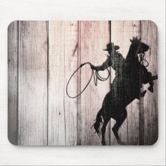 Cowboy Rustic Wood Barn Country Wild West Mouse Pad