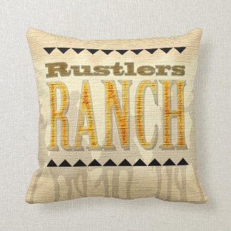 Cowboy Rustlers Ranch Western American MoJo Pillow
