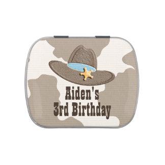 Cowboy Sheriff Hat Candy Tins