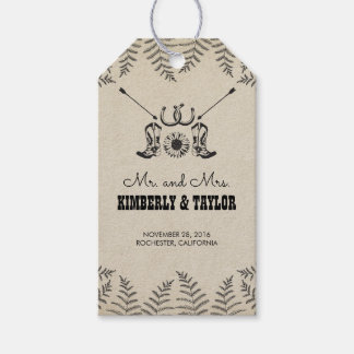 Cowboy Shoes Country Wedding Mr. and Mrs. Gift Tags