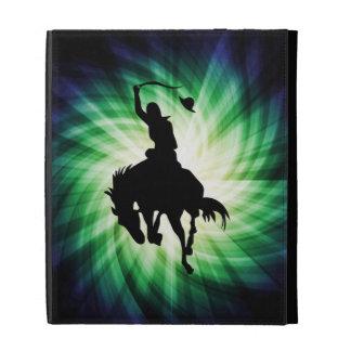 Cowboy Silhouette; Glowing iPad Folio Cover