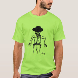 Cowboy Sketch Adult Basic T-Shirt - More COLORS