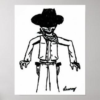 Cowboy Sketch Poster