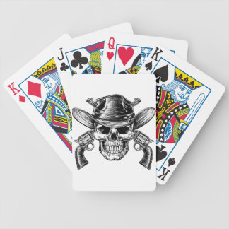 Cowboy Skull and Pistols Bicycle Playing Cards