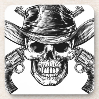 Cowboy Skull and Pistols Coaster