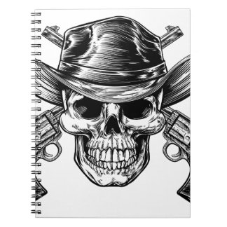 Cowboy Skull and Pistols Notebook