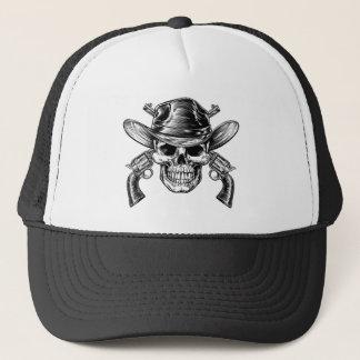 Cowboy Skull and Pistols Trucker Hat