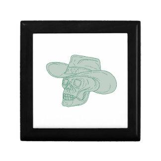 Cowboy Skull Drawing Gift Box