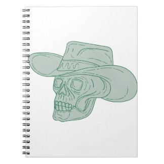 Cowboy Skull Drawing Notebooks