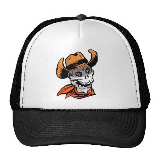 Cowboy Skull Trucker Hat