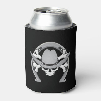 Cowboy Skull Horseshoe Can Cooler
