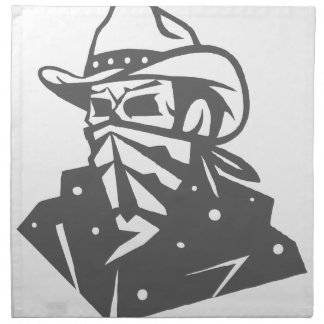 Cowboy Skull With Bandana And Hat Napkin