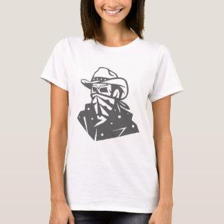 Cowboy Skull With Bandana And Hat T-Shirt