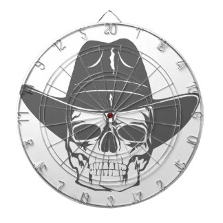 Cowboy Skull With Hat Dartboard