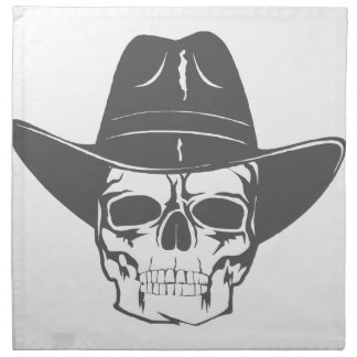 Cowboy Skull With Hat Napkin