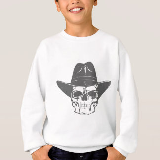Cowboy Skull With Hat Sweatshirt
