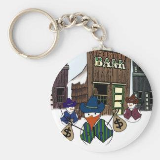 Cowboy Snowman Bandito Key Ring
