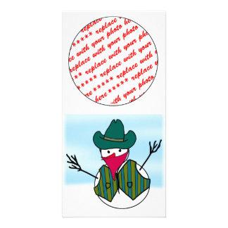 Cowboy Snowman Bandito Photo Cards