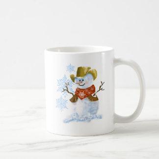 Cowboy Snowman Christmas Coffee Cup