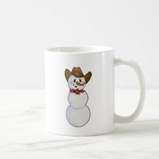 Cowboy Snowman with Red Bandana Coffee Mug