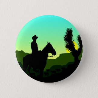 Cowboy T-shirts and Gifts. 6 Cm Round Badge
