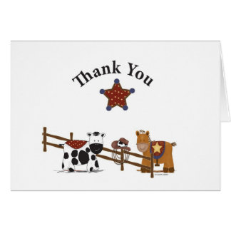Cowboy Thank You Card