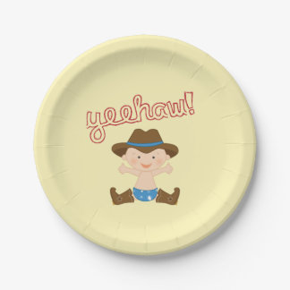 Cowboy Themed Plates for Birthday