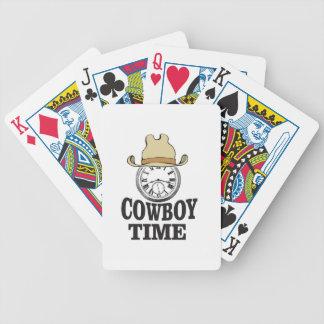cowboy time hat man bicycle playing cards