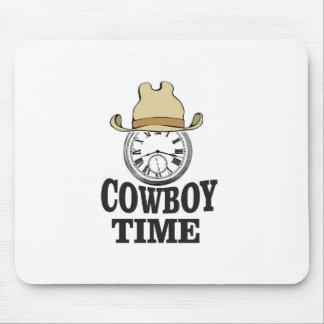 cowboy time hat man mouse pad