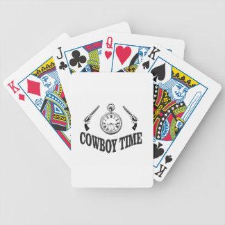 cowboy time logo bicycle playing cards