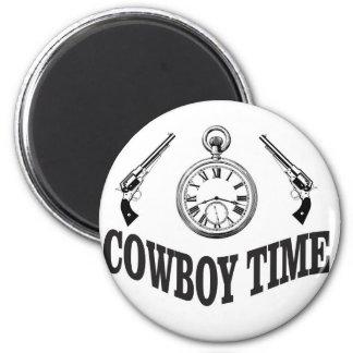 cowboy time logo magnet