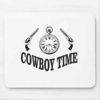 cowboy time logo mouse pad