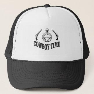 cowboy time logo trucker hat