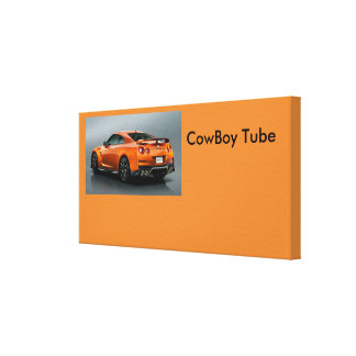cowboy tube poster canvas print