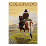 Cowboy (View from Back)Colorado Print