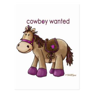 Cowboy Wanted Postcard