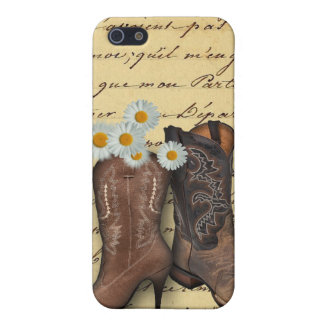 Cowboy Western Country Wedding savethedate favor iPhone 5 Cases