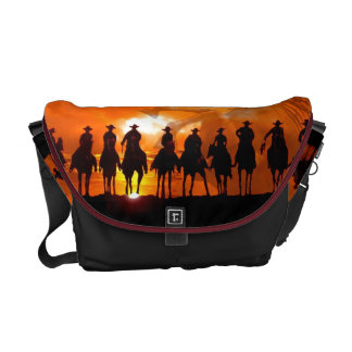 Cowboy Western Rickshaw Horse Saddle Bag Commuter Bag
