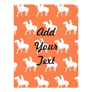 Cowboy White Orange Full Color Flyer