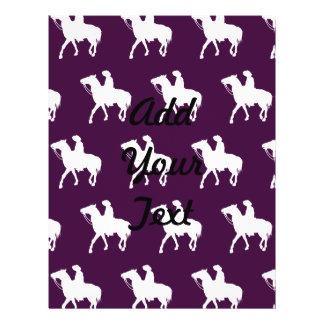 Cowboy White Purple Flyer Design