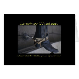 Cowboy Wisdom I Card